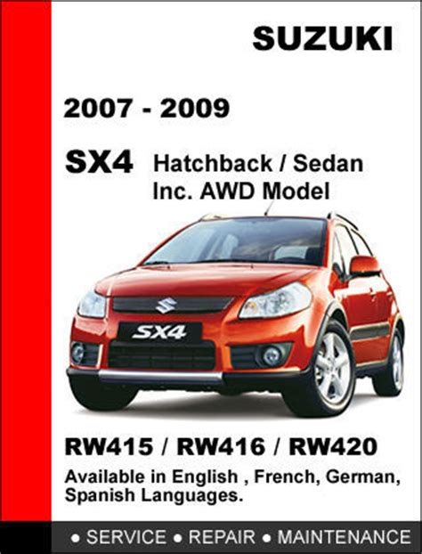 suzuki sx4 2007 2008 2009 factory service repair workshop oem maintenance manual other books