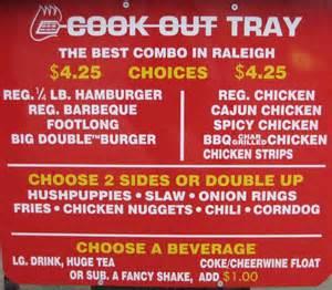 Backyard Burger Prices Eatcookout Com Cook Out Restaurant Menu Locations