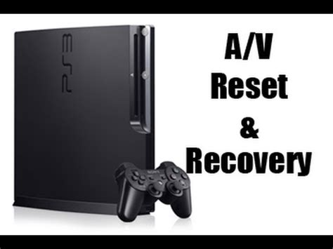 reset ps3 to video how to reset a v settings boot recovery mode ps3 youtube