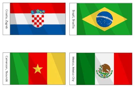 printable flags of the world cup 2014 45 best images about soccer time on pinterest coloring