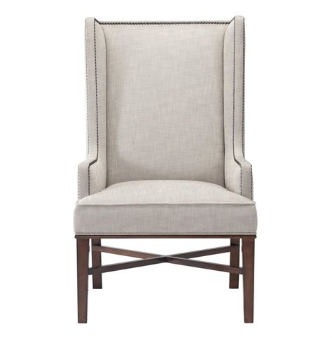 Dining Wing Chair Jacqueline Hostess Wing Back Occasional Dining Arm Chair Kathy Kuo Home