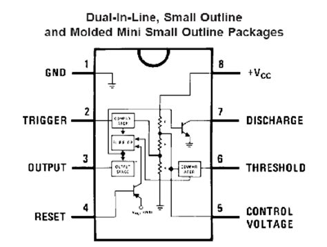 integrated circuit and data sheet 555 timer