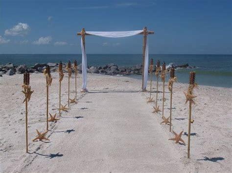 Wedding Arch Decorating Kit by Bamboo Wedding Arch And Starfish Tiki Aisle Way