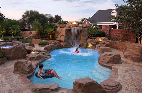 rock waterfalls for pools breathtaking pool waterfall design ideas