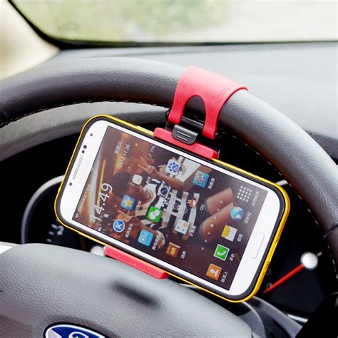 Handy Auto by Universal Mobile Phone Stand Holder Mount Clip Buckle