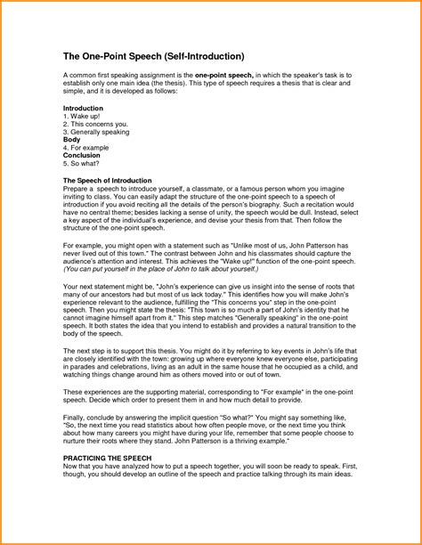 Business Self Introduction Letter Exle self introductory speech 28 images 9 self introduction