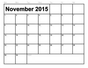 november 2015 calendar printable template 8 templates