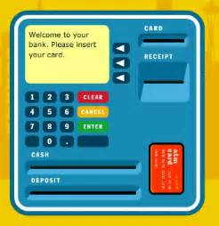 savings deposit using an atm card kids