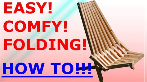 folding stick chair easy project youtube