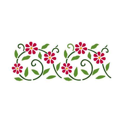 stencil con fiori steria stencil fiori stilizzati vernici shabby vintage