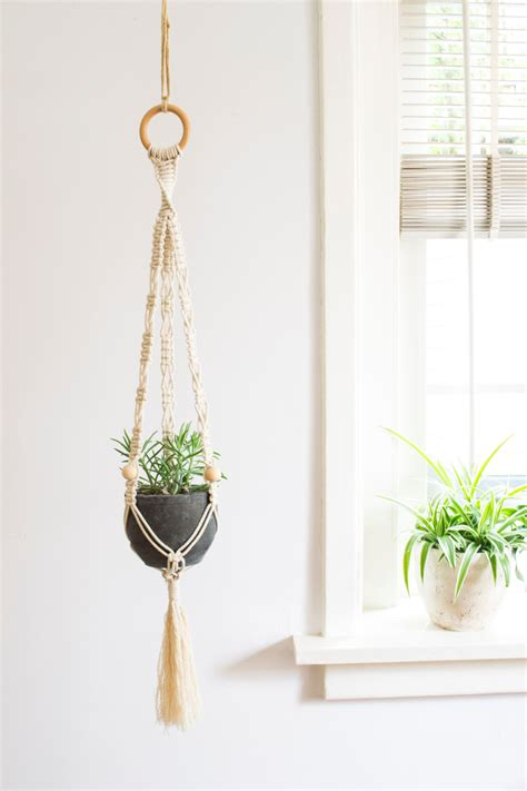 Hangers For Plants - macrame plant hanger 32 inch 1 8 inch braided cotton cord