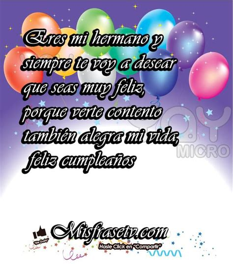 imagenes y frases de feliz cumpleaños hermano frases search and google search on pinterest