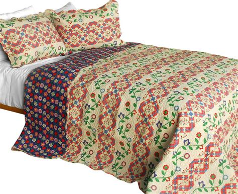 Cotton Patchwork Quilts - blancho bedding glitter 3pc cotton contained vermicelli