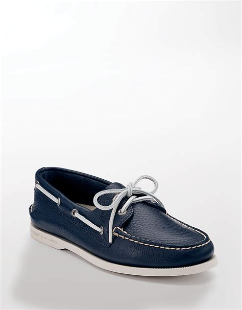 blue sperry boat shoes sperry top sider navy a o 2 eye leather boat shoe smart