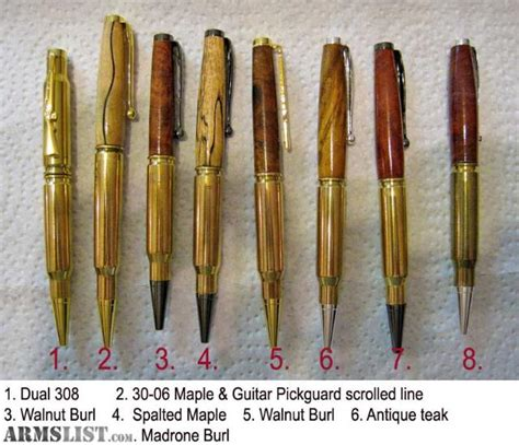 Handmade Wooden Pens For Sale - armslist for sale handcrafted wooden bullet pens from