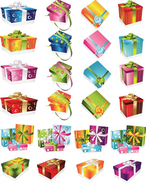 christmas gift boxes vector vector graphics blog