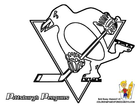 Penguins Pittsburgh Hockey Free Coloring pages   NHL