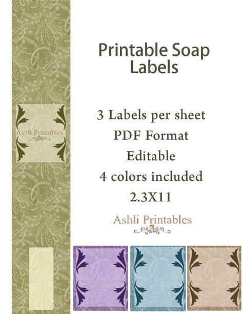 cigar band soap labels ashlisoapblog