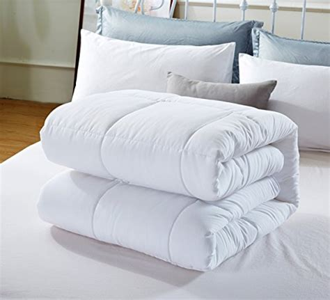 newlake king comforter duvet insert white plush