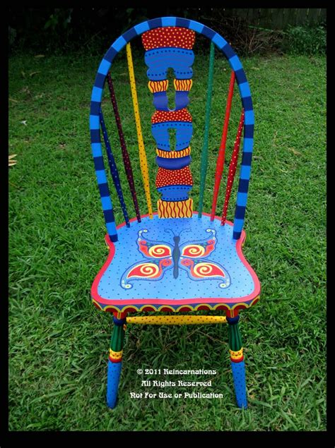painted armchair 1000 ideas about whimsical painted furniture on pinterest