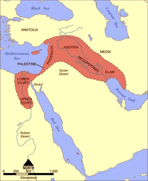 fertile crescent map the cradle of civilization mesopotamia