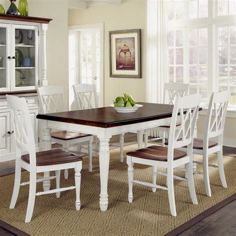 dining table and chairs set home styles monarch 7 dining table set with 6