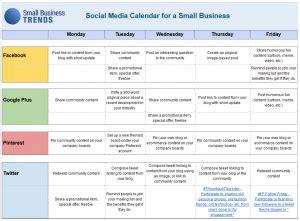 Social Media Calendar Template For Small Business Docs Social Media Calendar Template