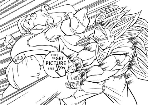 dragon ball z coloring pages for adults dragon ball z anime attack coloring pages for kids