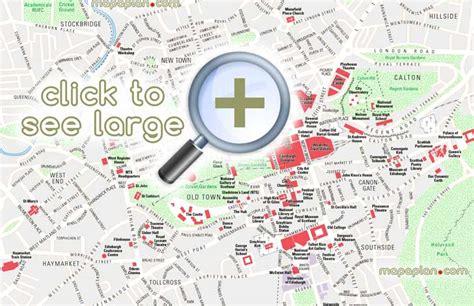 layout printable area edinburgh maps top tourist attractions free printable