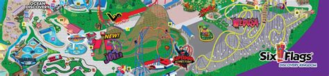 six flags vallejo map park map six flags discovery kingdom