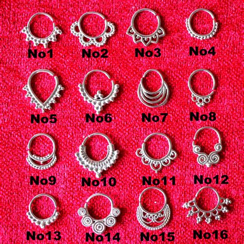 1pcs mix design surgical steel indian tribal septum
