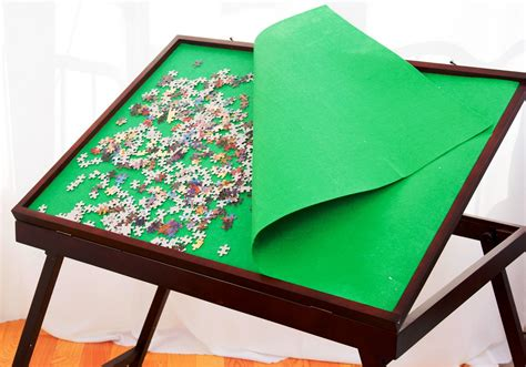Portable Puzzle Mat by Jigsaw Puzzle Storage Table Tilting Portable Board Folding