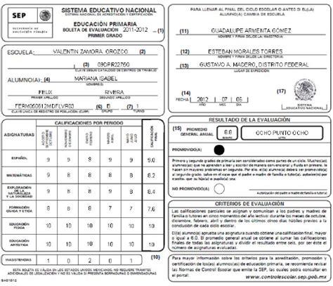 formato de boleta para secundaria ciclo 2016 2017 formato de boleta de evaluacion secundaria ciclo 2014 2015