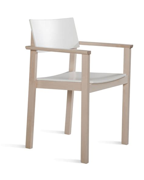 Stacking Armchair by Ks 397a Wooden Stacking Armchair