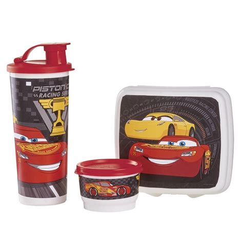 Lunch Box Set Disney Cars tupperware disney 183 pixar cars 3 lunch set tupperware