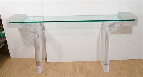 clear acrylic console lucite console simple macassar ebony lucite