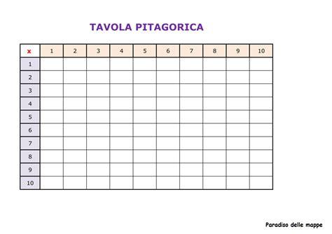 tavola pitagorica fino a 15 paradiso delle mappe tavola pitagorica da completare