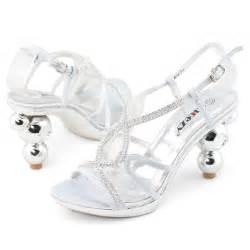 Shoezy cheap womens silver diamond platform pumps block high heels