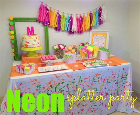 Paint Splatter Decorations by 15 Best Images About Neon Splatter Ideas On