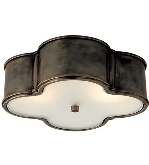 visual comfort basil flush mount visual comfort alexa hton basil 3 light flush mount in