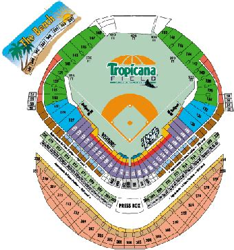 what is the seating capacity of tropicana field tropicana field historical analysis by baseball almanac