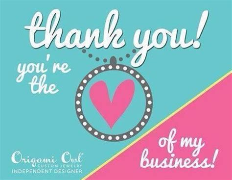 Origami Owl Thank You - thank you you re the is my business www