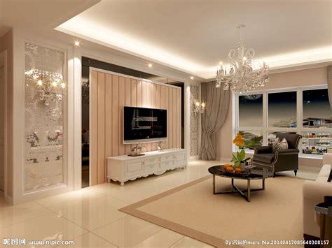 简欧风格电视墙设计设计图 室内设计 环境设计 设计图库 昵图网nipic com