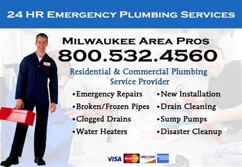 24 Hr Plumbing Service by Waukesha Wisconsin Emergency Plumbers Drain Snake Rooter