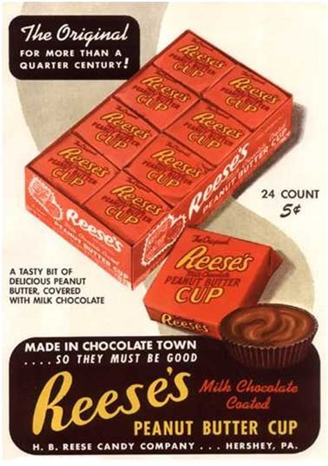 pinning on pinterest peanut butter fingers reese s peanut butter cups c 1960 vintage products