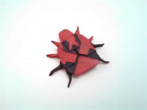 Origami Ladybug - origami ladybugs gilad s origami page