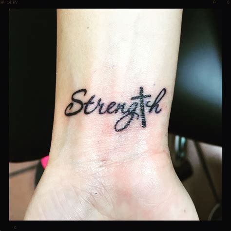 strength tattoos strength with cross favs strength