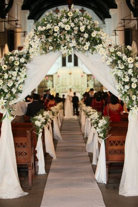 Wedding Aisle Flower Decorations by Flowers Bouquets Aisle Decor For Church Wedding Flowers