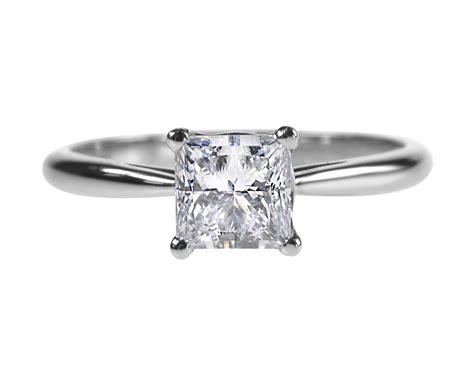 princess cut ring 0 92ct engagement ring