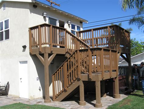 home design story stairs second story deck stair designs home design ideas